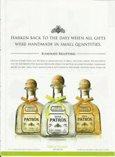 HARKEN BACK TO THE DAYS... PATRON Tequila- 2012 print magazine ad