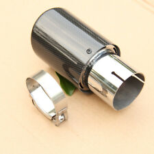Carbon Fiber Exhaust Tip 63MM IN-89MM OUT Universal Muffler Tip MUFFLER Glossy