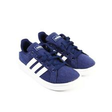 Adidas Childrens Grand Court Kid's Youth Casual Blue Lace Up Shoes Size 11 K