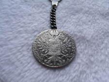 Authentic 1780 Austrian Thaler Antique .925 Silver Coin Keychain w Velvet Box