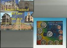 SPANJE 2010 - LA MANCHA - EMISIÓN NACIONAL DEL EURO (9 munten en 1 penning)
