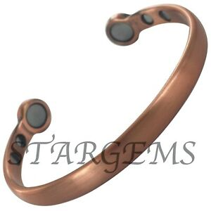 EXTRA STRENGTH PURE COPPER MAGNETIC BANGLE MENS WOMENS ARTHRITIS PAIN RELIEF BIO