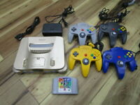 Nintendo 64 Console Gold w/4controller adpter Pokemon Stadium N64 Japan B600