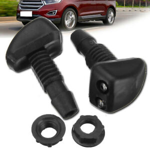 2x Universal Front Car Windscreen Sprayer Washer Wiper Nozzle Window Spray Jet