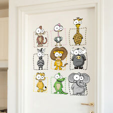 Animal Wall Stickers Big Eyes 3D Decal Wallpaper Art Animal Decor Children Room