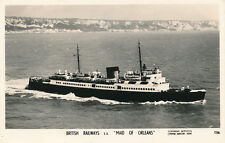 Shipping British Railways SS MAID OF ORLEANS Aerial RP PPC Kent