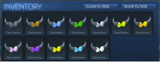 ALL PAINTED Devil Horns Uncommon Toppers [Rocket League] [Xbox One]
