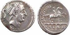 Marcia, denier, Rome, 56 av JC, Roi Arcus, AQVA (MAR) - 68