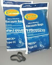 16 Allergy Bags for Oreck XL XL2 Upright Vacuum Type CC + 2 Free Oreck belts