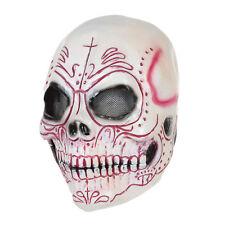 Máscara De Látex Cráneo Esqueleto Horror Halloween Vestido Elegante Colorido Accesorio