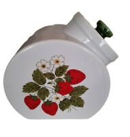 Cottagecore Nelson McCoy Strawberry Country Cookie Jar/Canister Tilt 70's