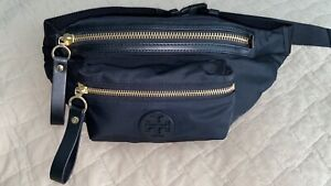 Tory Burch Tilda Black Nylon Belt Waist Crossbody Bag EUC