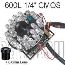 "600TVL CCTV Color Camera Board 1/4"" Inch CMOS with Infared + 3.6 & 6.0mm Lens+IR"