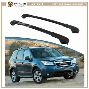 Aluminum 2 Pieces Black Roof Rack Crossbars Fit For Subaru Forester 2014-2018