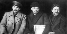 Stalin, Lenin & Kalinin 1919 Russian Soviet Communism 7x4 Inch Reprint Photo