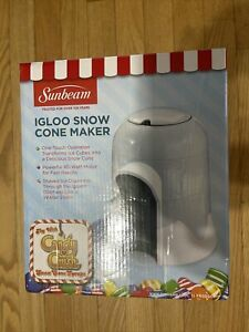 Sunbeam Igloo SNOW CONE MAKER Shaved ice Slushie FRSBSCIGO Never opened NEW