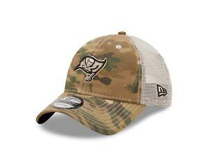 Tampa Bay Buccaneers  New Era Camo Mesh Trucker 9Twenty Adjustable Snapback hat