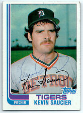 Kevin Saucier signed 1982 Topps baseball Detroit Tigers autograph #238
