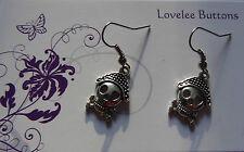 Skull and Cross Bone Hook Earrings Tibetan Silver Pirates
