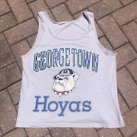 VINTAGE GEORGETOWN HOYAS SINGLE STITCH LARGE TEE SHIRT TANK TOP SLEEVELESS 90s