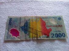 Romania 2000 lei 1999 banknote