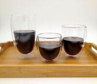 Hitzebeständiges doppeltes Wand-Glas, Thermos, Kaffeetasse,Teeschale, Weinglas
