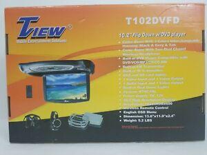 "Tview T102DVFD 10.2"" Tft Lcd Flip Down Monitor Dvd Headphones Remote Usb/sd"