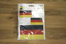 3er Set Applikation Bügelbild Patch Aufnäher Deutschland Flagge Fussball