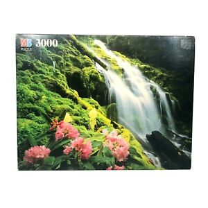 Vintage MB Magnum 3000 Pc. Puzzle Nature Waterfall Cascades Proxy Falls Oregon