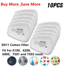 10/20/50PCS 5N11 Cotton Filter Replacement Filters For 6200 6800 7502 Respirator