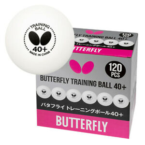Butterfly Table Tennis ping pong G40+ Ball Pack of 120 White