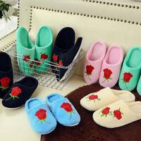 Pantofole antiscivolo da 1 paia di donne rose casa coperte invernali calde pancr