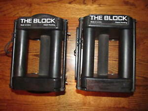 Set of 2 Powerblock The Block Handle Adjustable Dumbbells No Weights