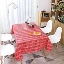 New Christmas Table Cloths Cover Linen Deer Printed Tableware Party Decors RF