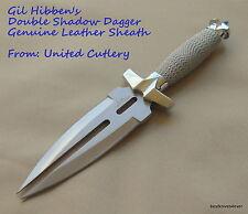 UNITED CUTLERY GIL HIBBEN DOUBLE SHADOW DAGGER WITH LEATHER SHEATH