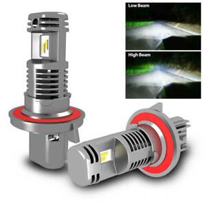 2x H13 9008 LED Headlight Bulb Noiseless Plug Play for Jeep Wrangler 2007-2019