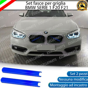BMW SERIE 1 F20 F21 COVER RADIATORE GRIGLIA AD INCASTRO NO ADESIVO COLORE BLU