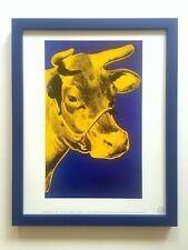 "Andy Warhol Estate Rare Vintage 1989 Framed Pop Art Lithograph Print ""Cow"" 1971"