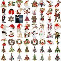 Fashion Christmas Santa Snowman Brooch Pin Corsage Xmas Jewelry Gift Women Men