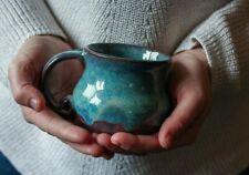 Turquoise and Purple Ceramic Handmade Mug