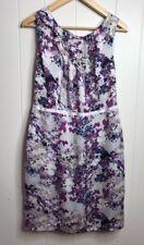 Ann Taylor Loft Size 10 Purple Flower Print Shift Dress