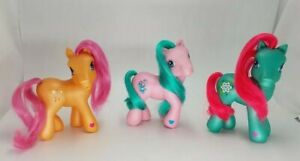My Little Pony G3 Lot Of 3 Sparkle *tan - Magnolia *blue - Bunches of Fun *pink