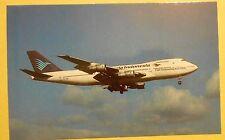 Garuda Indonesian Airways P.T. Boeing 747-2U3B PK-GSD Airline Aircraft Postcard