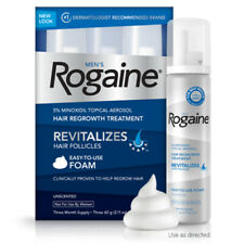 Rogaine Foam 3 MONTH SUPPLY 5% Men's minoxidil topical Aerosol 2021/04 Regaine