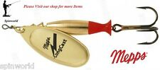 Mepps Longcast Gold Artificial Lure All Sizes Spinner Spinning Fishing Indicator 5 - 24g