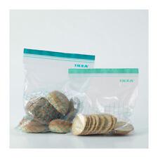 30x IKEA ISTAD Large Plastic Food Storage Resealable Reusable Zip Freezer Bags