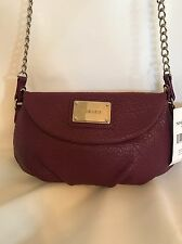 NINE WEST ARCHIE MESSENGER CROSS BODY BAG PURSE PLUM FAUX LEATHER NWT $45.00