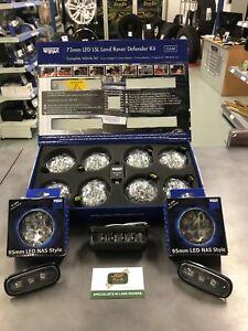 LAND ROVER DEFENDER LED WIPAC DELUXE CLEAR UPGRADE LAMP LIGHT KIT DA1291/DA8530