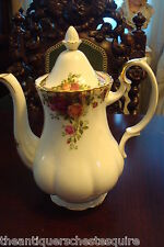 """Royal Albert Old Country Roses Coffee Pot, 10 """" tall"""