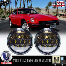 7Inch Hi/Lo Beam Projector For Datsun 240Z 260Z 280Z 280ZX 1970-78 H4 Headlight